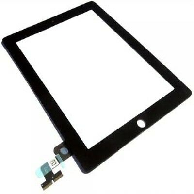 For iPad 2 A1395 Replacement Touch Screen Glass Digitizer & Home Button - Black
