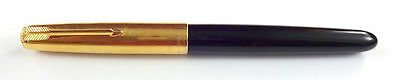 Nice Parker 51 Fountain Pen. Black-Gold Argentina