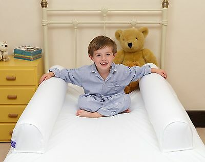 Bed Guard Tube Bumper Single Baby Nursery Kids Cotbed Washable Safety Rail White