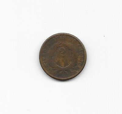 1871 U.S. TWO CENT Piece 2c UNITED STATES *