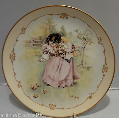 The Charm Of Victorian Children - Collectors Plate  - A Day In The Country
