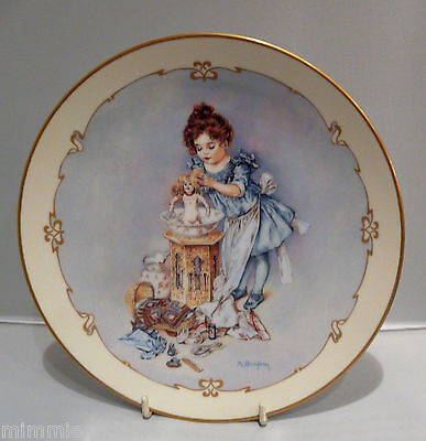 The Charm Of Victorian Children - Collectors Plate  - Playing Mama