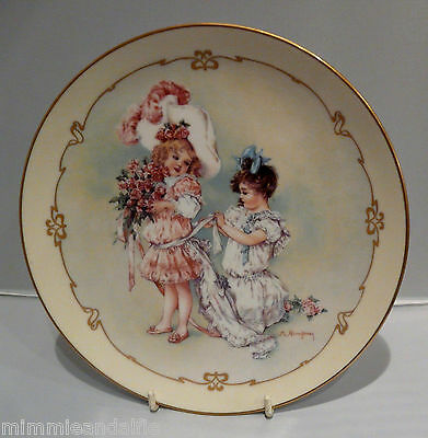 The Charm Of Victorian Children - Collectors Plate  - Playing Bridesmaid