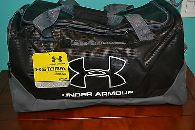 UNDER ARMOUR Armor HUSTLE STORM Duffle Gym Work Out Yoga Sports Bag NAVY BLUE