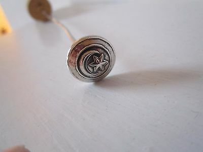 Solid Silver Hat Pin with Steel Shaft
