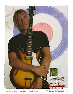 Paul Weller  *LARGE POSTER*  Epiphone Casino Guitar Ad - The JAM & Style Council