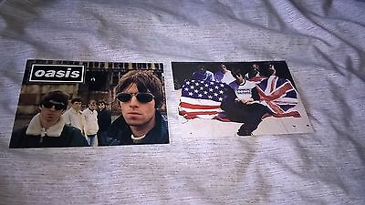 Job Lot Of 2 Oasis Band Photo Postcards Indie