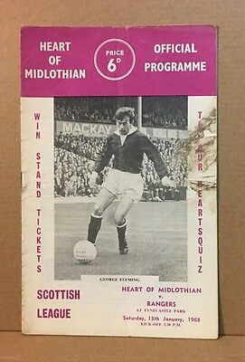 Heart of Midlothian fc Match Day Programme 1968