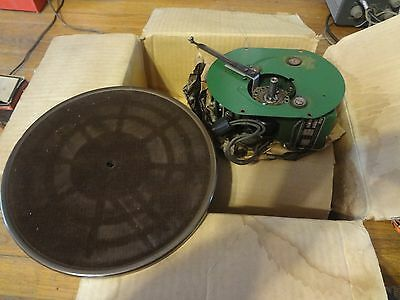 Antique Working Flyer Electric Motor Model A Type 9588 and Platter Old Stock