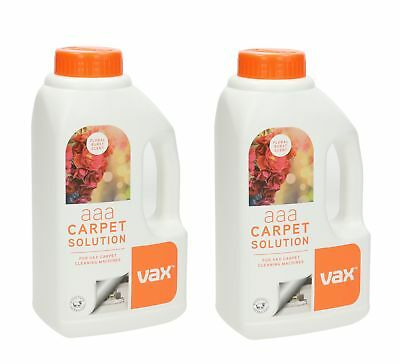 2 x Genuine Vax AAA Carpet Washer Cleaning Shampoo Formula Floral Infusion 750ml