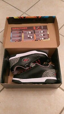 2016/17 Heelys Boys Black Grey Roller Skating Boots Shoes Sneakers. Size 2
