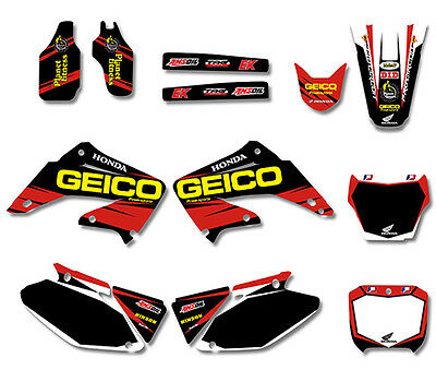 HONDA DECAL GEICO CR125 TO CR250, 2002 TO 2012, Graphics Sticker Kit MX