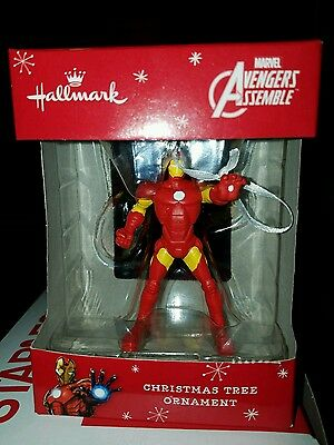 Hallmark Marvel Avengers Assemble Ironman Christmas Tree Ornament NIB