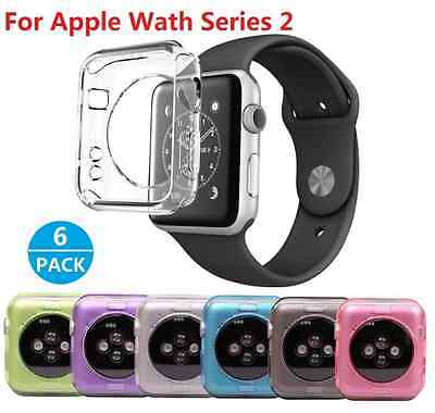 [6 pieces] Coque Apple Watch Series 2, Nikay Housee TPU Coque pour Apple Watch S