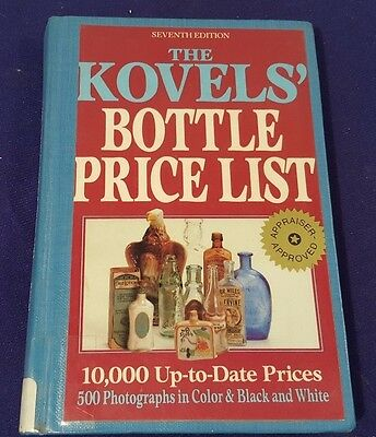 1984 The KOVELS BOTTLE Price List Price Guide Hardcover Book 7th Edition