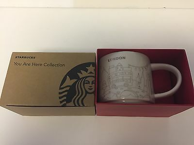 Starbucks You Are Here Holiday 2016 London Ceramic Coffee Mug New with Box