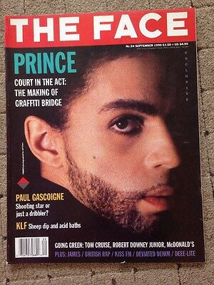 The Face Magazine September 1990 Prince Cover