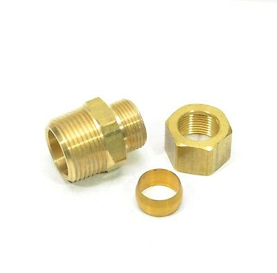 "5/8"" Tube OD Compression to 3/4"" Male NPT Fitting Adapter Connector"