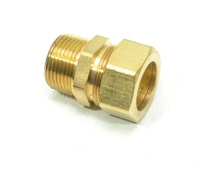 """7/8"""" Tube OD Compression to 3/4"""" Male NPT Fitting Adapter Connector"""