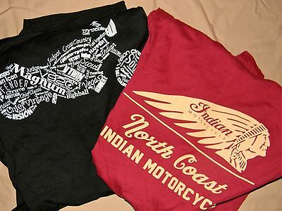 ***Mens INDIAN Motorcycle T-Shirts-- size-XL--LOT OF 2--NWOT***