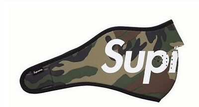 Brand New - Supreme Neoprene Face Mask Camouflage  -  3 colors -  Medium only