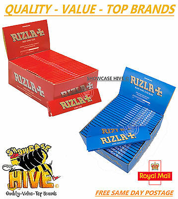 Rizla King Size Slim Paper Booklets Red Blue Cigarette Rolling Papers Genuine