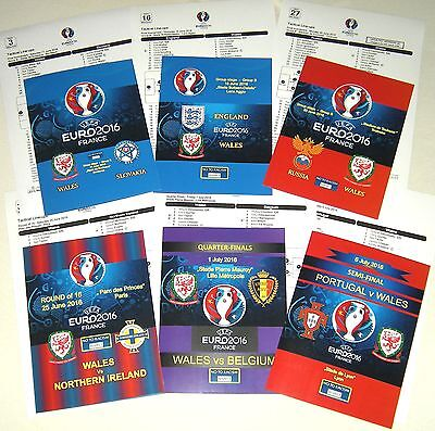 EURO 2016 in France ! WALES - ALL 6 PROGRAMMES and TEAMSHEETS !