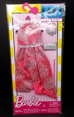 New! 2017 Barbie Complete Look Fashion Pack Coral Dress 4 All Body Types!