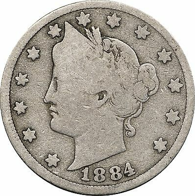 1884 Liberty V Nickel, Good G