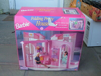 Vintage Mattel Barbie Folding Pretty House Villa 1996