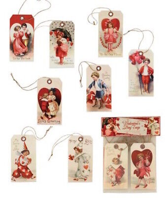 Bethany Lowe Valentines Day Tags Assorted Set of 10 Vintage Images Decorations