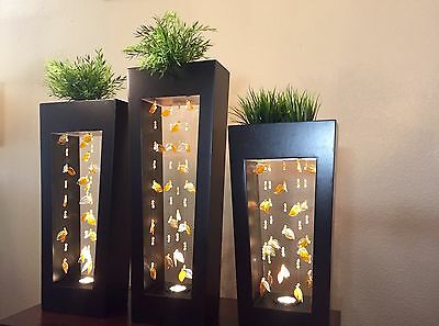 Standing Accent Lamp Blown Glass UNIQUE Table-Floor Light HOME/OFFICE DECOR NEW