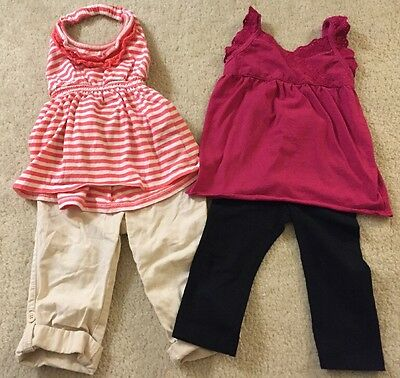 Old Navy Baby Gap Lot 2 Pants Leggings Shirt Outfits 18-24 Months