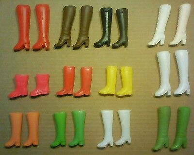 Large Lot of Vintage Barbie Dawn Boots Pairs Clothes