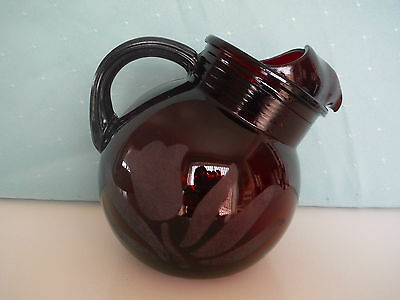 Vintage Anchor Hocking Ruby Red Ball Pitcher