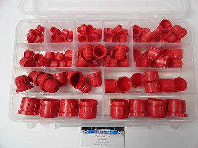 Hydraulic JIC Plastic Cap and Plug Kit Set 124pc 6 Sizes