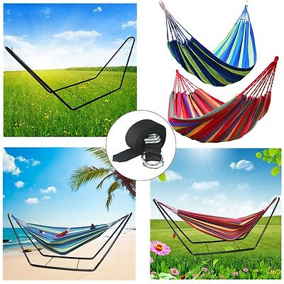 Autumn Air Chair Hanging Swinging Camping Foldable Double Cotton Fabric Hammock