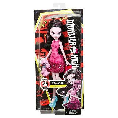 Monster High Draculaura with Pet Puppy - Ghoul's Beast Pet - NEW  6+