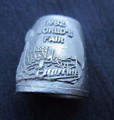 """Vintage """"Thimble"""" Pewter Collectible from the """"1982 WORLD'S FAIR"""" Tenn. 1 Piece!"""