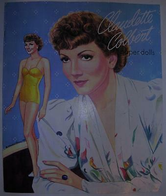 Claudette Colbert Paper Dolls Marilyn Henry 1993 Self Published Set Not Shackman