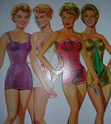 Rare 1957 Vintage Sheree North Paper Dolls Saalfield - Century Fox Actress - Cut