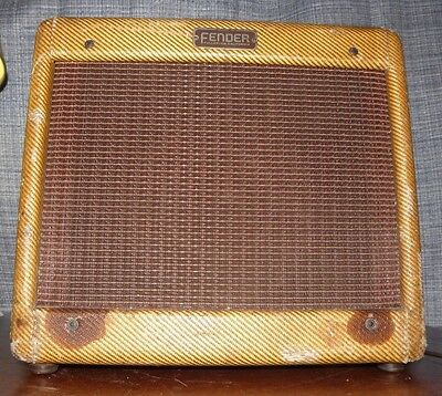 RARE 1955 Fender Princeton 5E2 Tweed Amp  All Original Sounds Great! ( 5F2 Era )