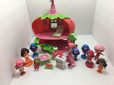 STRAWBERRY SHORTCAKE BERRY BITTY CAFE PLAYSET LOT Dolls House And Furniture