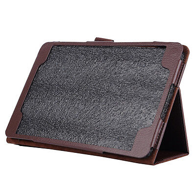 """B876 Flip Leather Case Cover Stand for Samsung Galaxy Tab A 8.0 """"T350 Brown"""