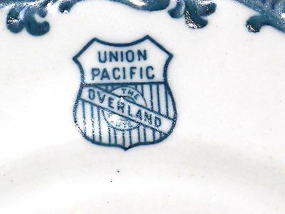 Excellent+ Union Pacific RR Harriman Blue Dinner Plate 1910's  Top Marked