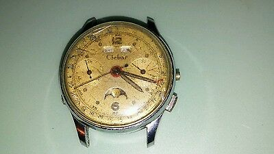 1960,s Clebar triple reader, moonphase chronograph, venus 200,  for parts