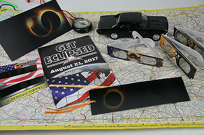 Solar Eclipse glasses, book, postcard, bookmark, viewers - Survival Kit