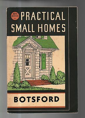 1936 BOTSFORD HOUSE plans catalog - 38 houses shown in color