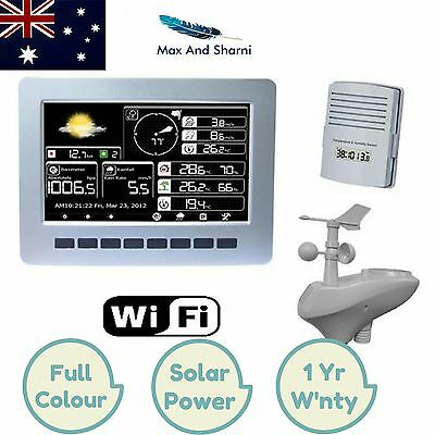 Wireless Solar Powered Weather Station with Colour Graphics