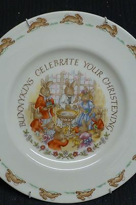 Royal Doulton 'bunnykins' Plate - Celebrate Your Christening